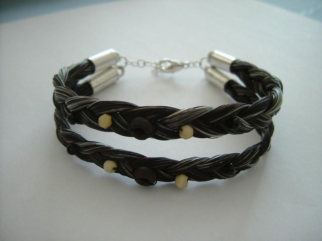 Doppelt-dreifach geflochtenes Armband mit Kundeneigenen Perlen
