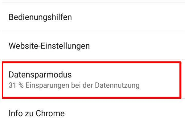 Datensparmodus