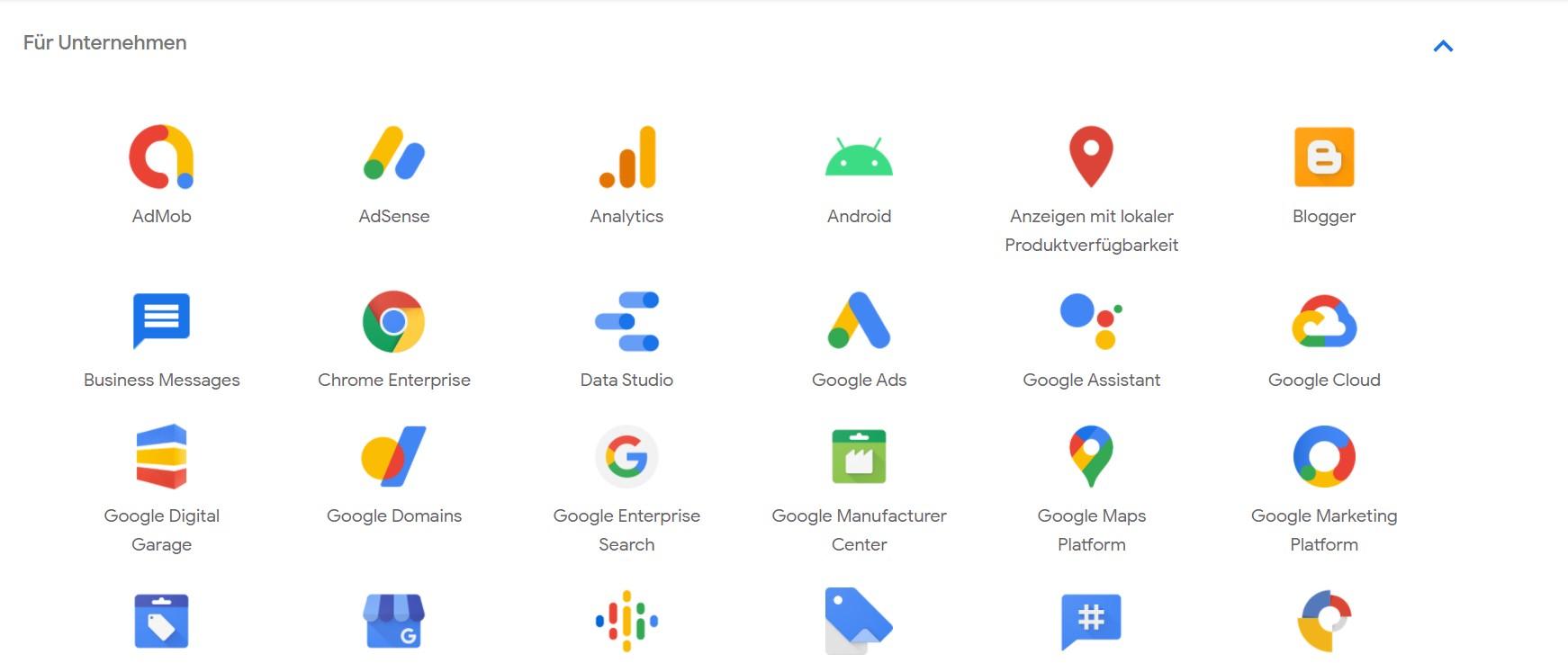 Google Werkzeugbox im Überblick