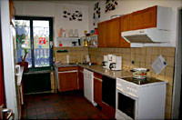Küche in einem Wohnheim