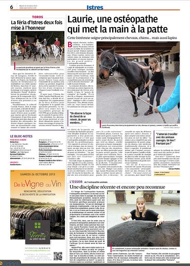 La Provence - 22 Octobre 2013
