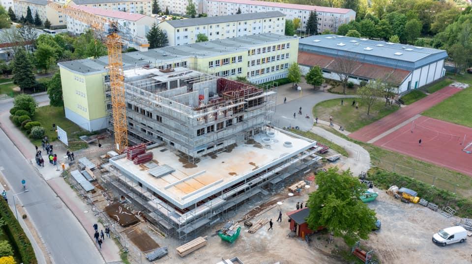 Elsterlandgrundschule Herzberg (Elster) - Drohnenaufnahme                   (Quelle: Stadt Herzberg)