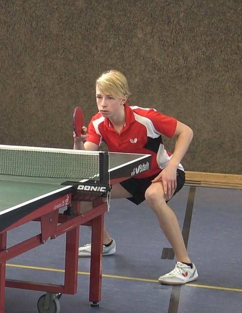 Wieder in blendender Form: Sebastian Fischer gewann seine beiden Einzel