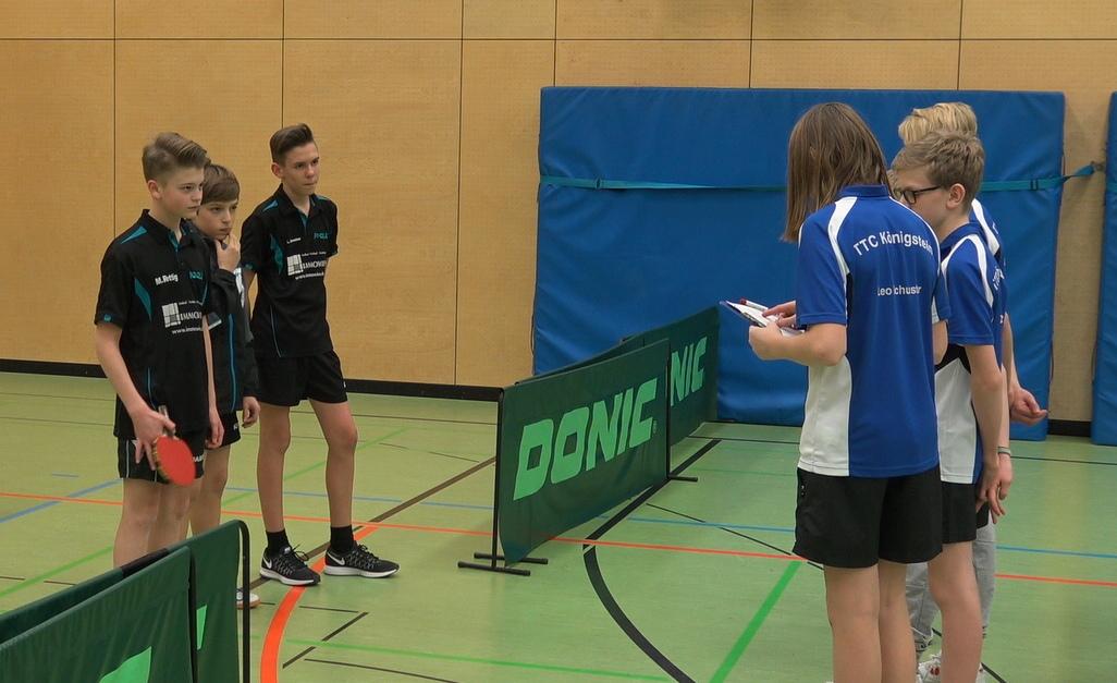 Das Pokalspiel der Königsteiner Schüler gegen den TV Bürstadt begann mit einer kleinen Verspätung.
