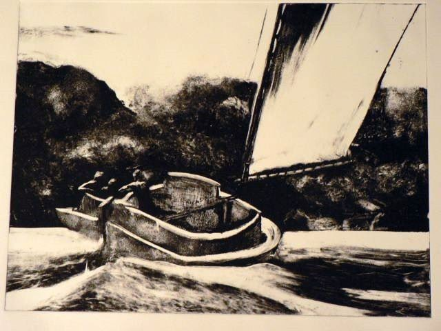 VOILE BLANCHE / monotype