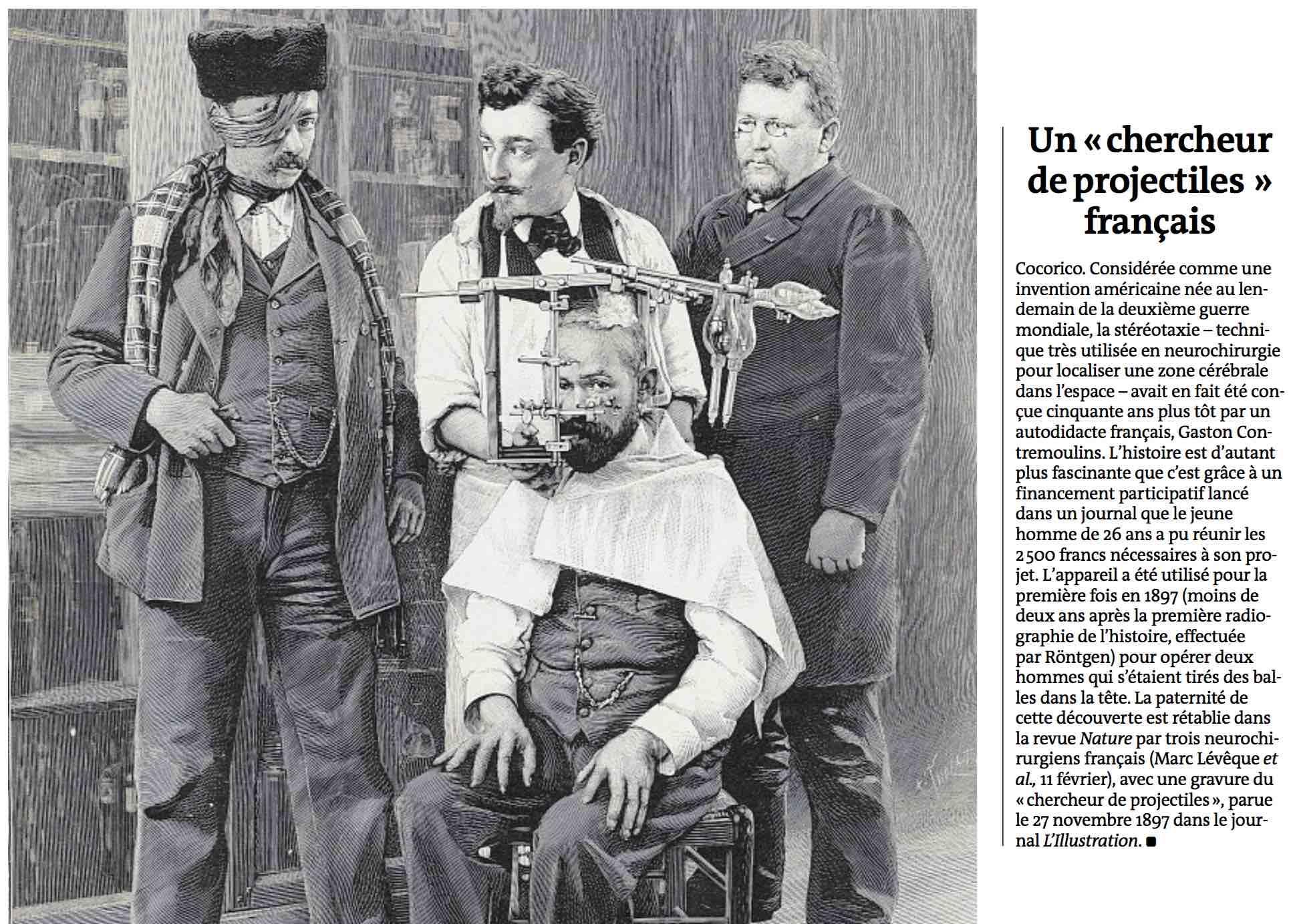 """Le Monde - Un """"chercheur de projectile"""" français - 24/02/16"""