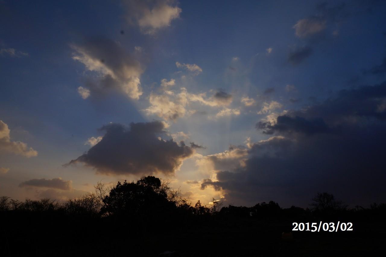 3月2日:朝日が昇る直前