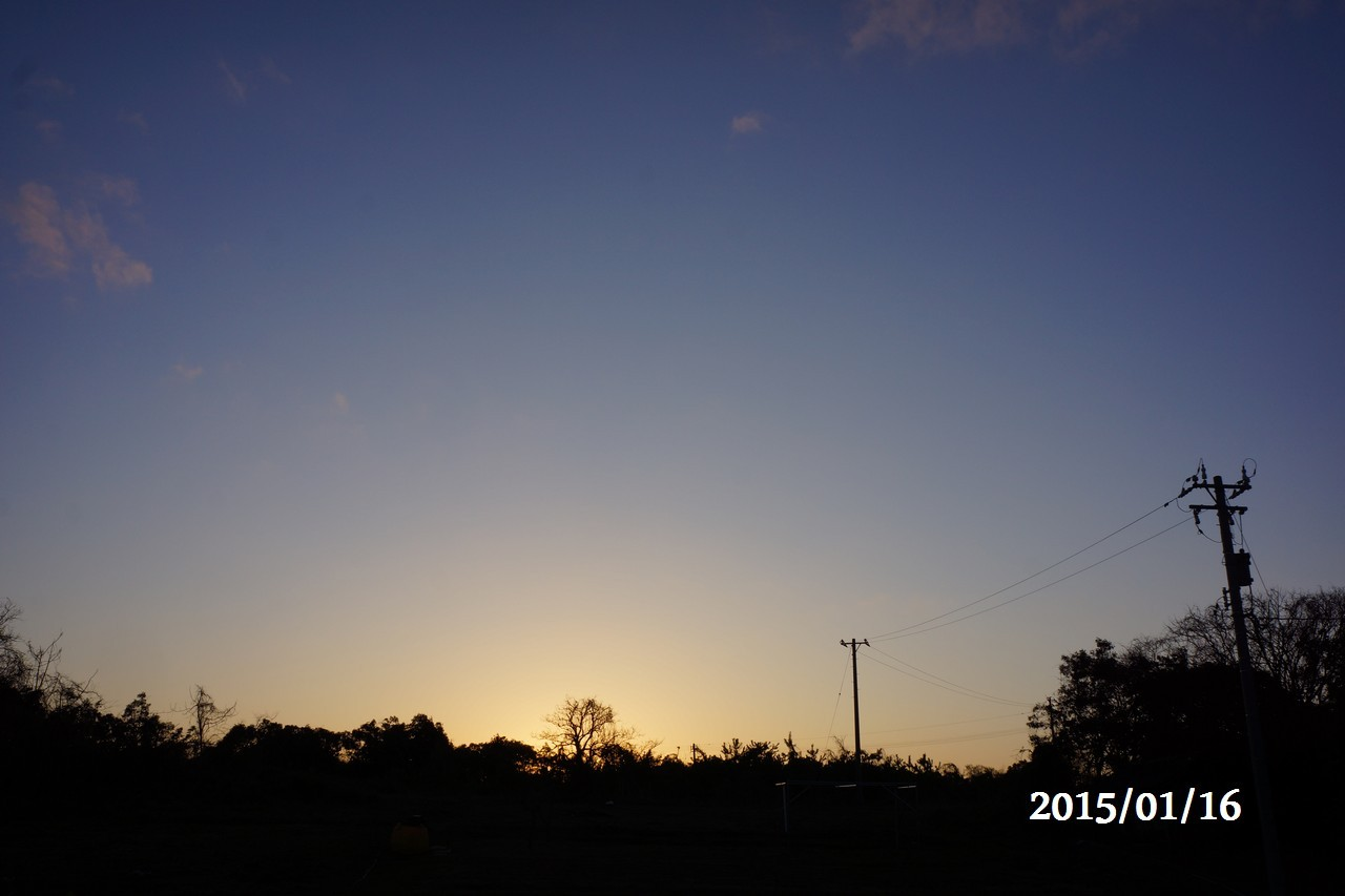 1月16日:朝日が昇る②
