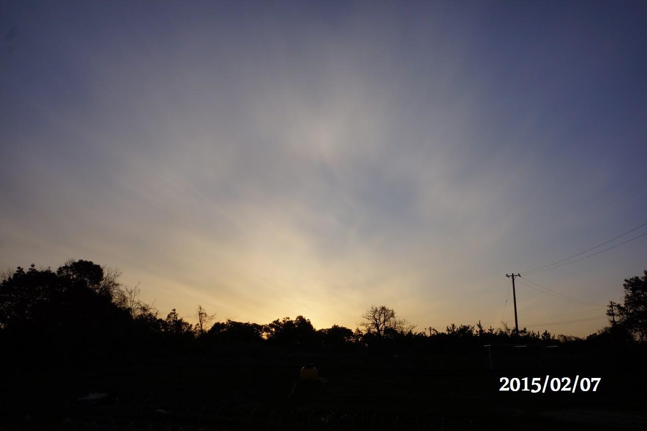 2月07日:朝日が昇る
