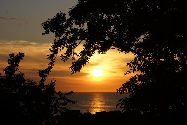 6月29日:美しい夕日