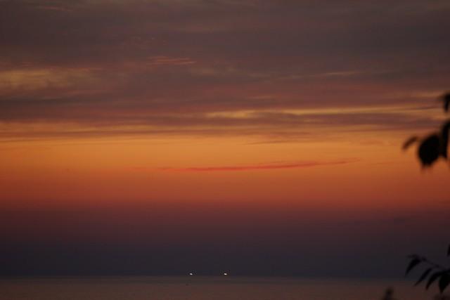 5月23日:太陽が沈んで。