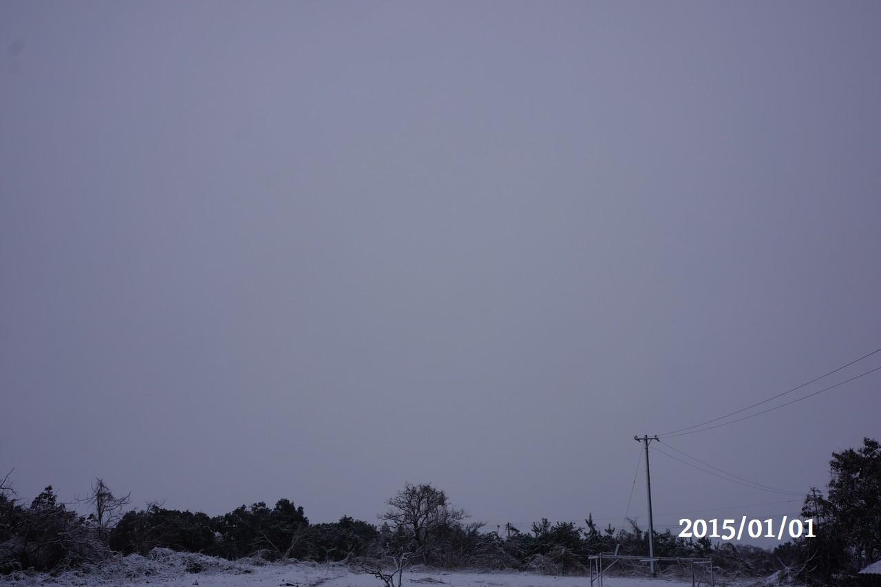 2015年元旦:雪景色の様子