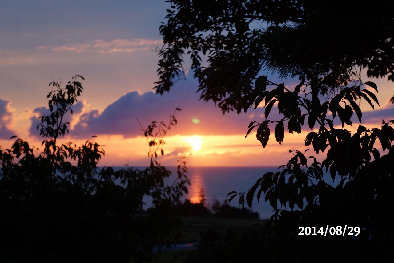 8月29日:日本海に沈みゆく太陽