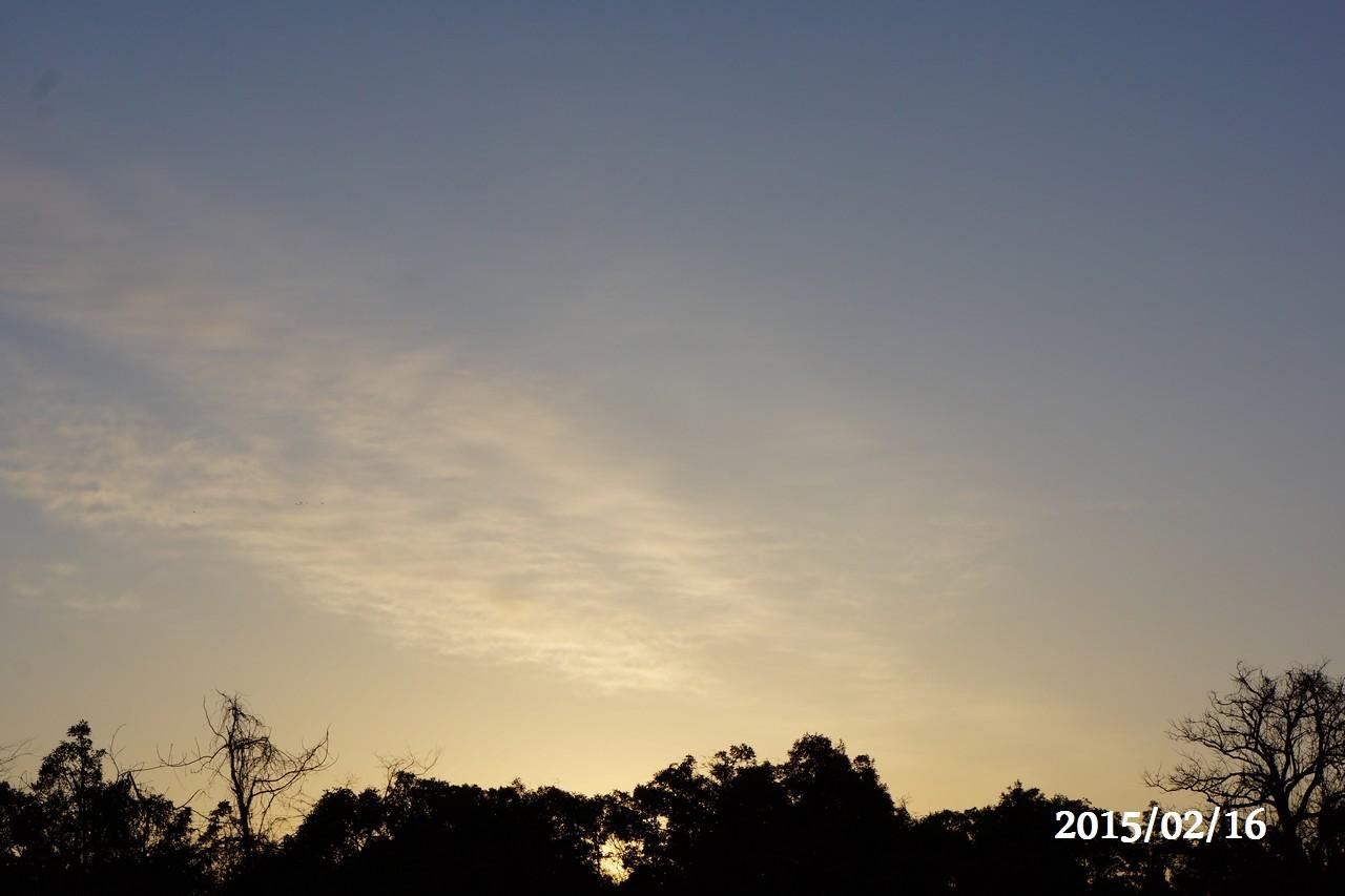2月16日:朝焼けの様子②