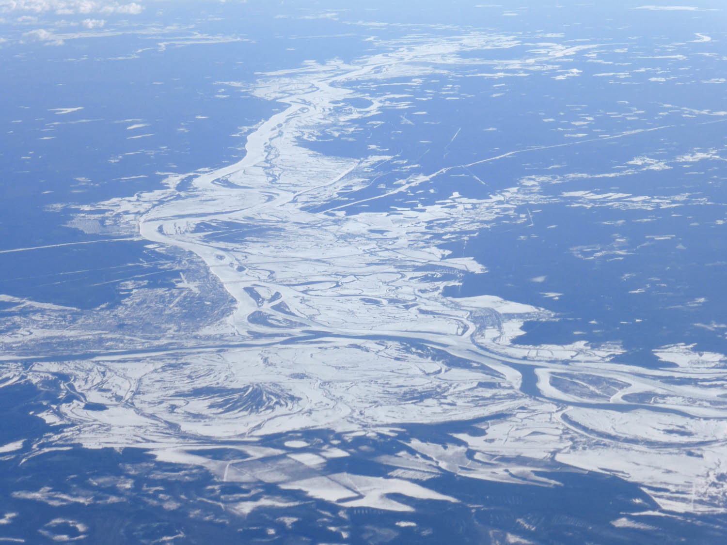 Frozen rivers and wetlands