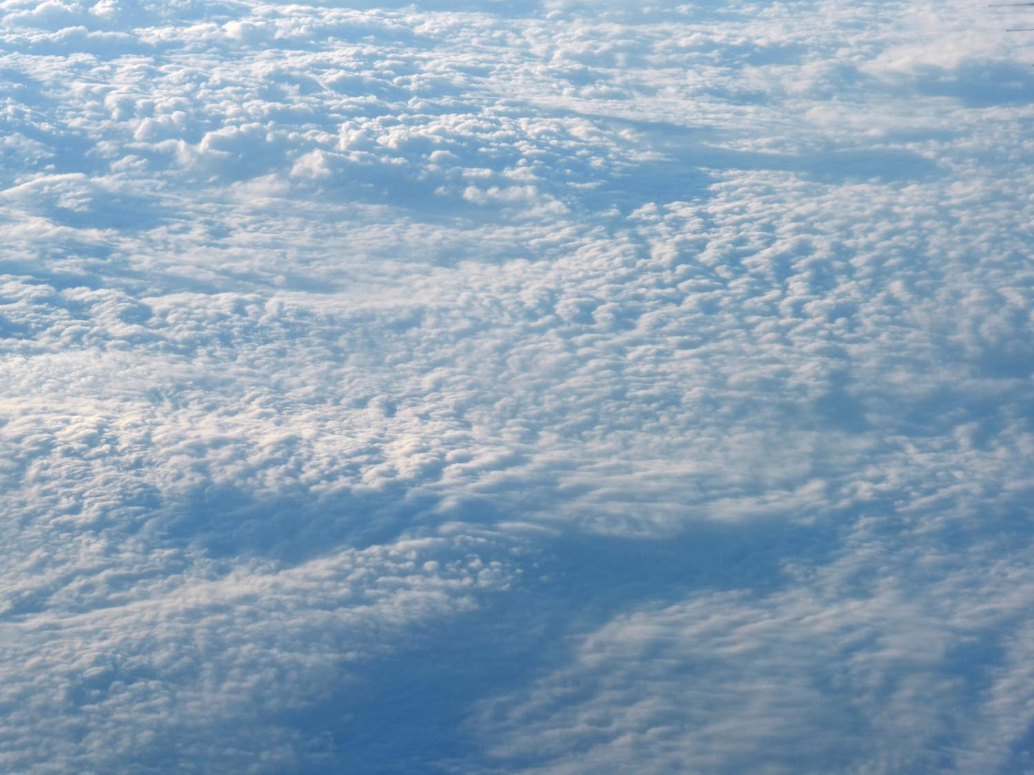 Undulating cloud field over the USA