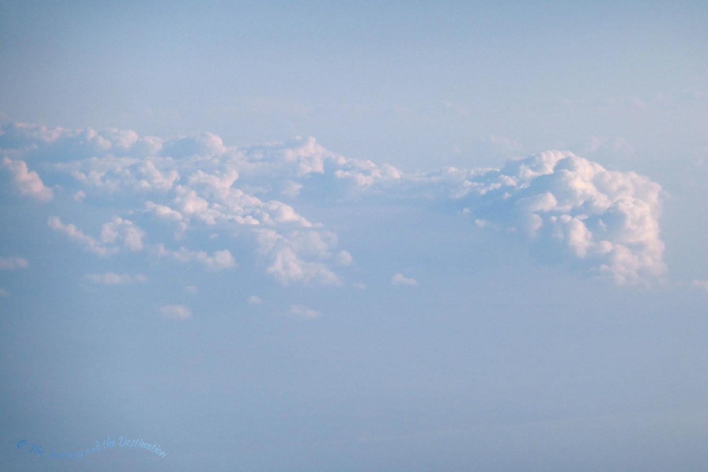 Hazy cloudscape