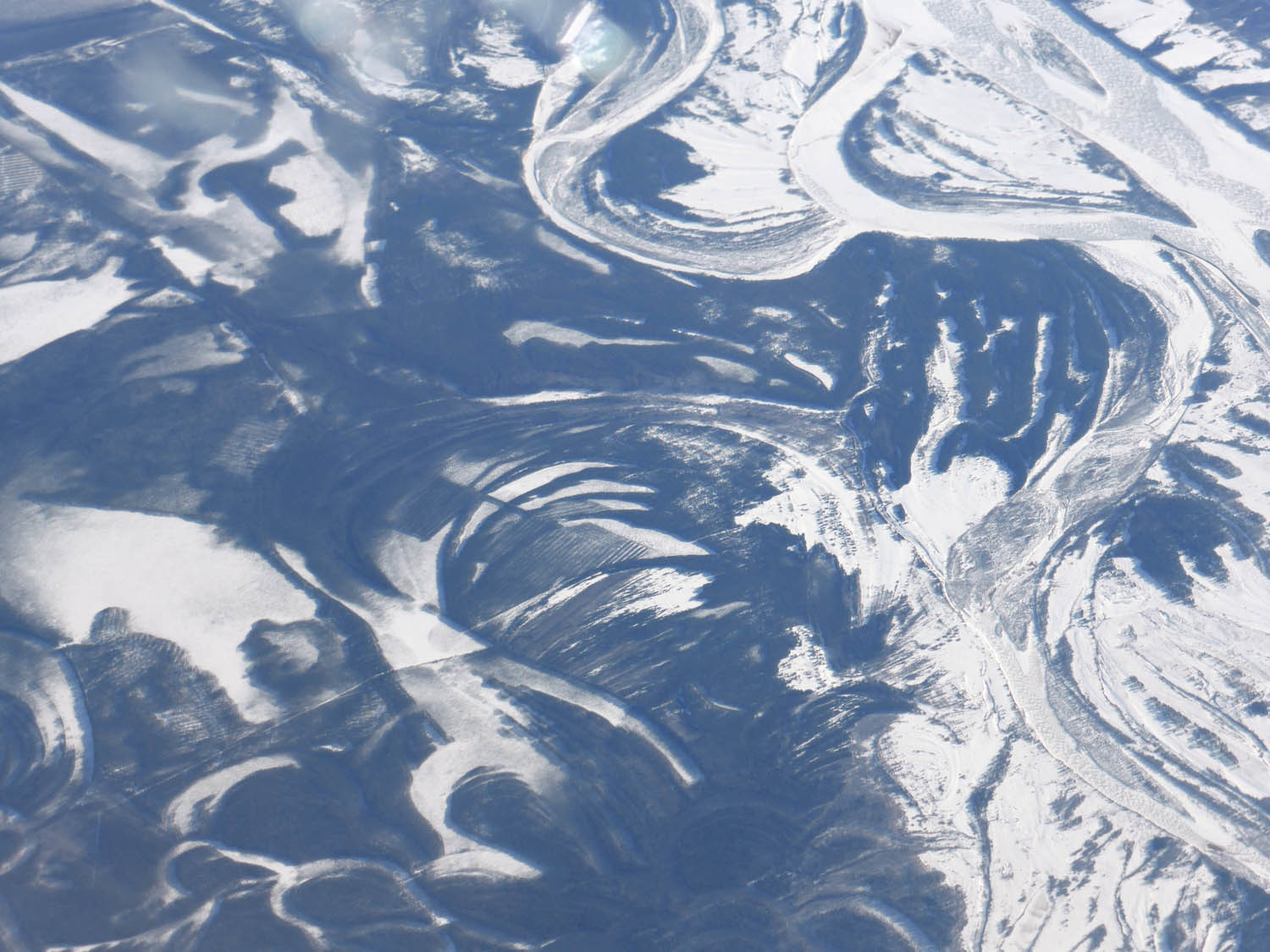 Frozen rivers and maybe farmland