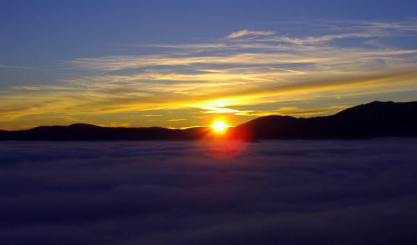 Sonnenuntergang Rax Schneeberg