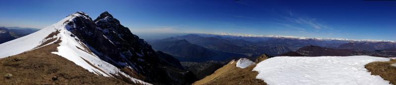 Monte Generoso und den Südalpenbogen vor Augen