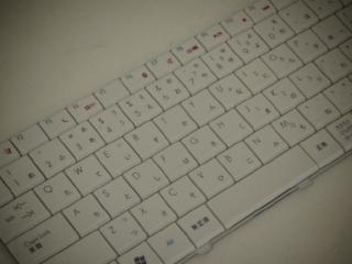故障したキーボードユニットの写真