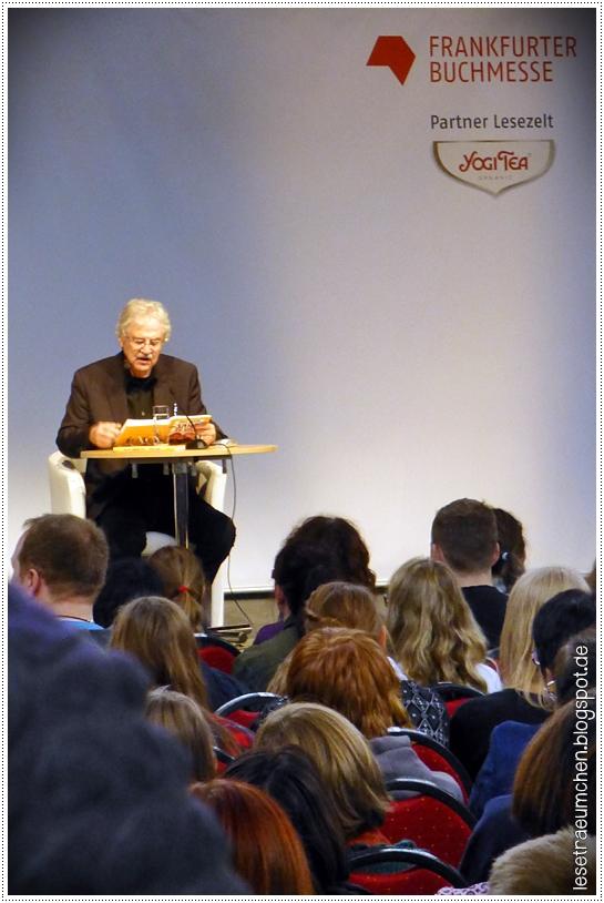 """Paul Maar bei der Lesung von """"Ein Sams zu viel"""" im Lesezelt, 17.10.2015"""
