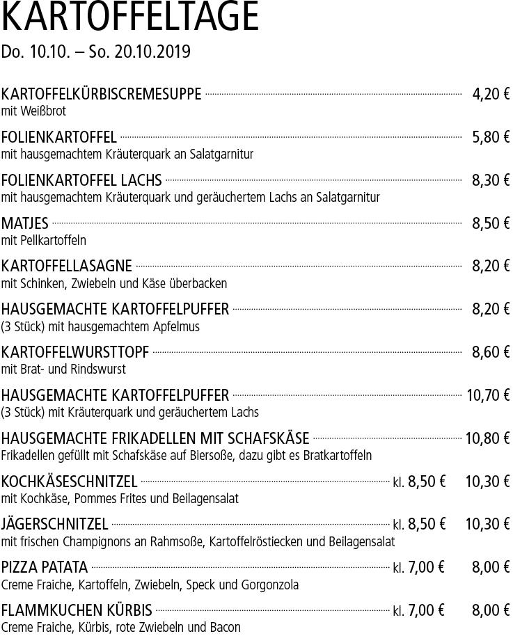 Kartoffelwoche - Kelterschänke Elsenfeld