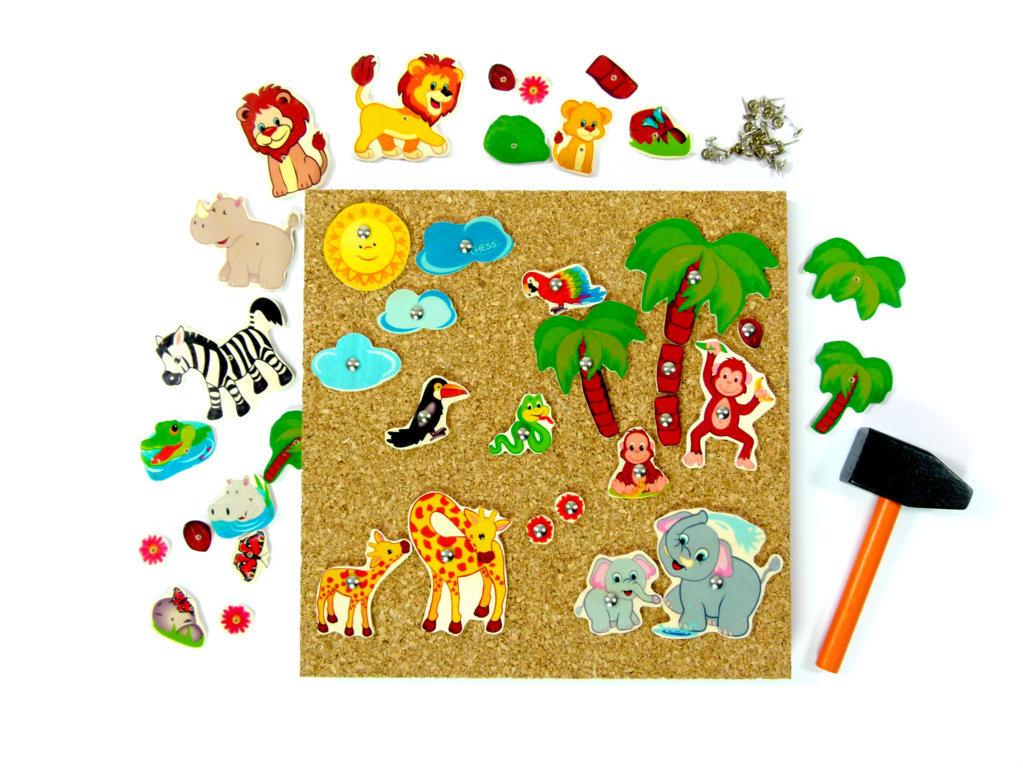 Hämmerchenspiel Feuerwehr Hammerbild Klopfspiel Korkbild Hämmerchen Spiel Kinder