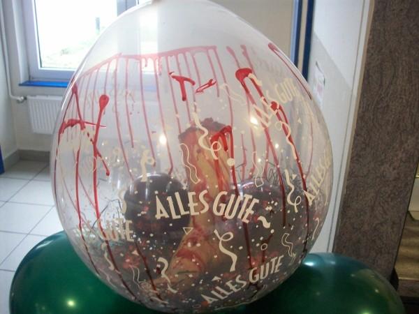 Abgeschlagenes Bein im Ballon. Alles Gute! - € 14,98