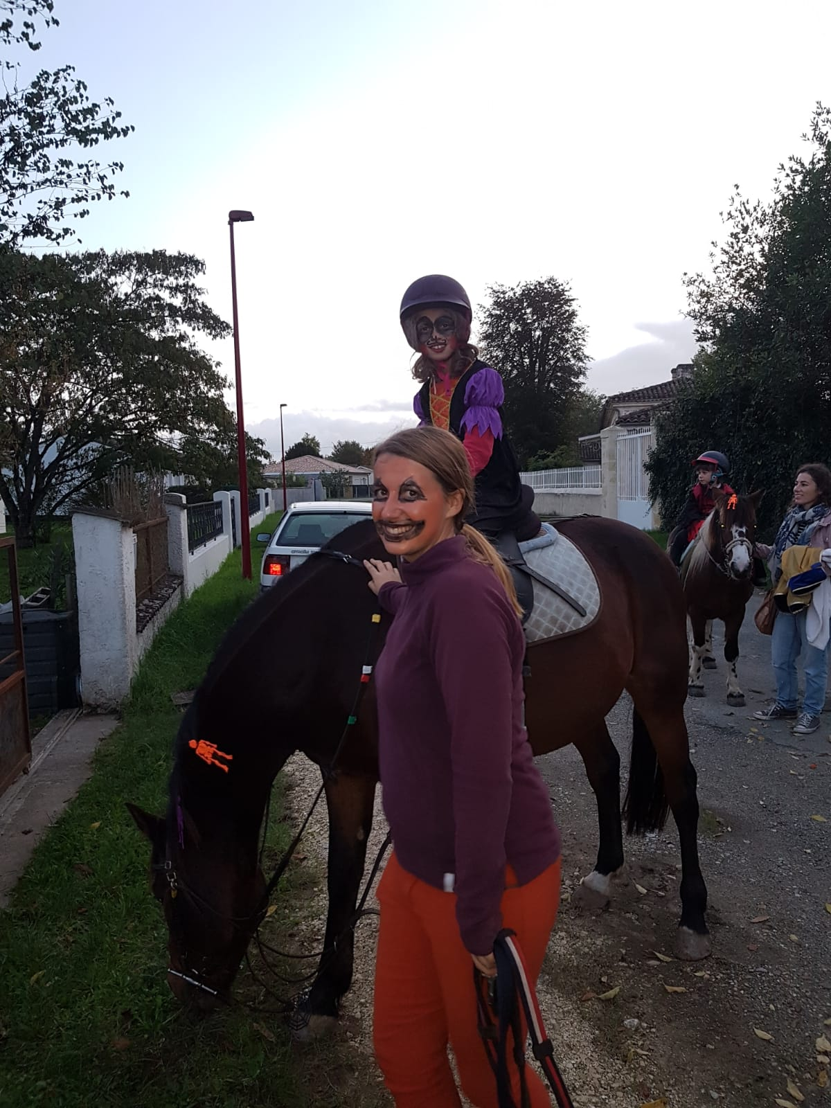Halloween 2019 Léna, Izar et Caporal