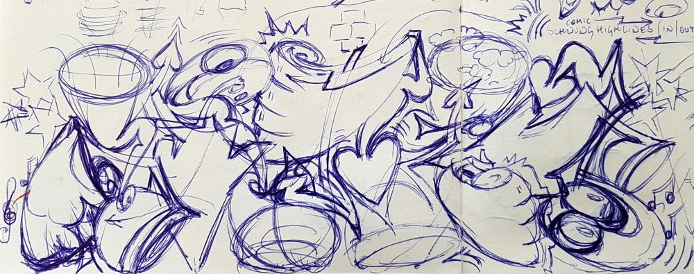 PAT23 - Graffiti Sketch Blackbook - Kugelschreiber