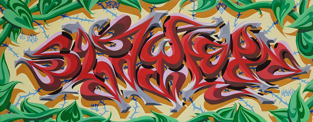 Slayer - Graffiti Style Leinwand 50x20