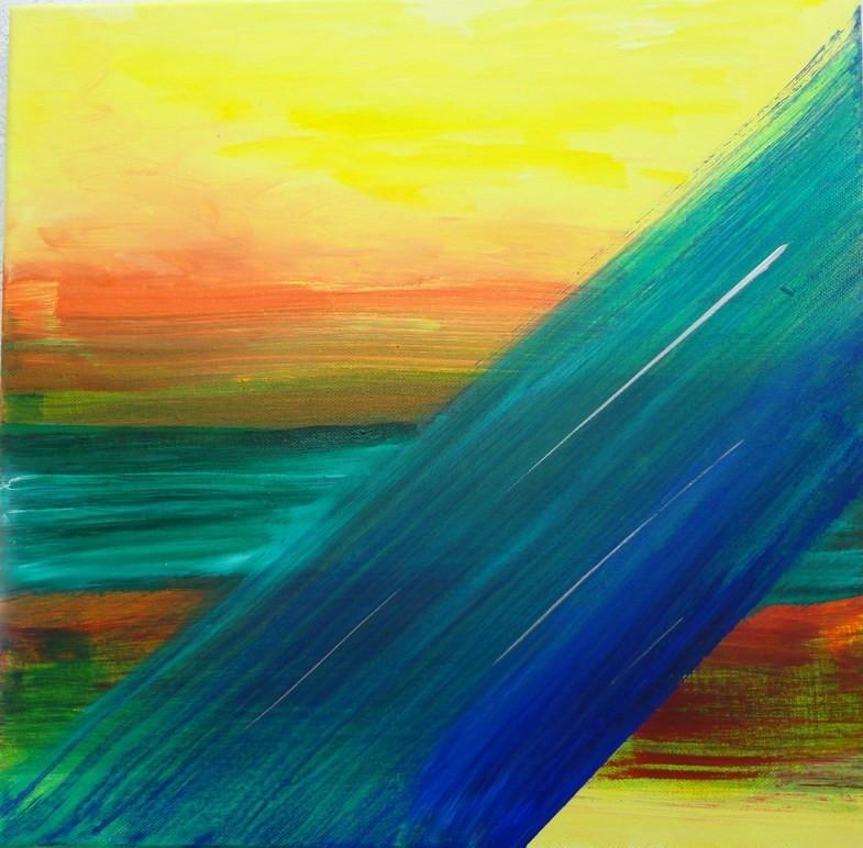 Nr. 83  Sonne - Wasser, 40 x 40 cm gespendet!