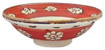 乾山写雲菊文寿字_6.8深口つけ麺鉢