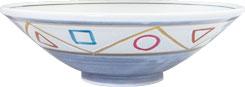 染錦ペルシャ紋_8.0反浅鉢