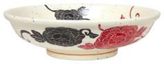 イングレ唐草牡丹_7.5麺鉢