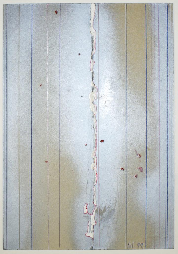 <b>22.4.99</b><br> 1999, Mischtechnik auf Pappe, <br>30,5 x 21,5 cm