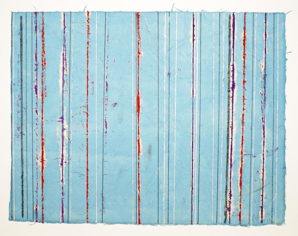 <b>12.12.96</b><br> 1996, Öl, Tinte, Tusche auf Japanpapier, <br>26 x 34 cm