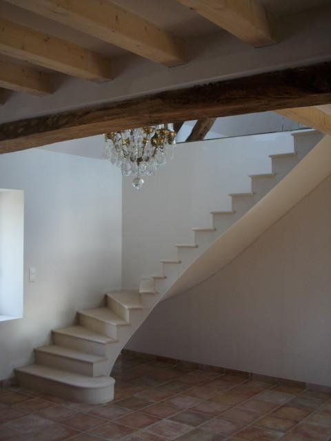 Escalier en pierre de Haims réhabilitation