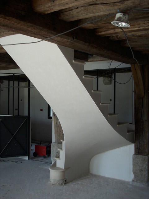 Escalier en pierre de Haims réhabilitation (voûte dans le vide)