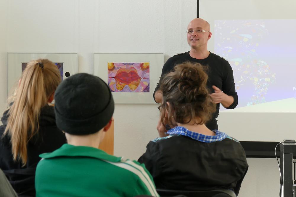 Tom Ritschel moderierte die Workshop Challenge.