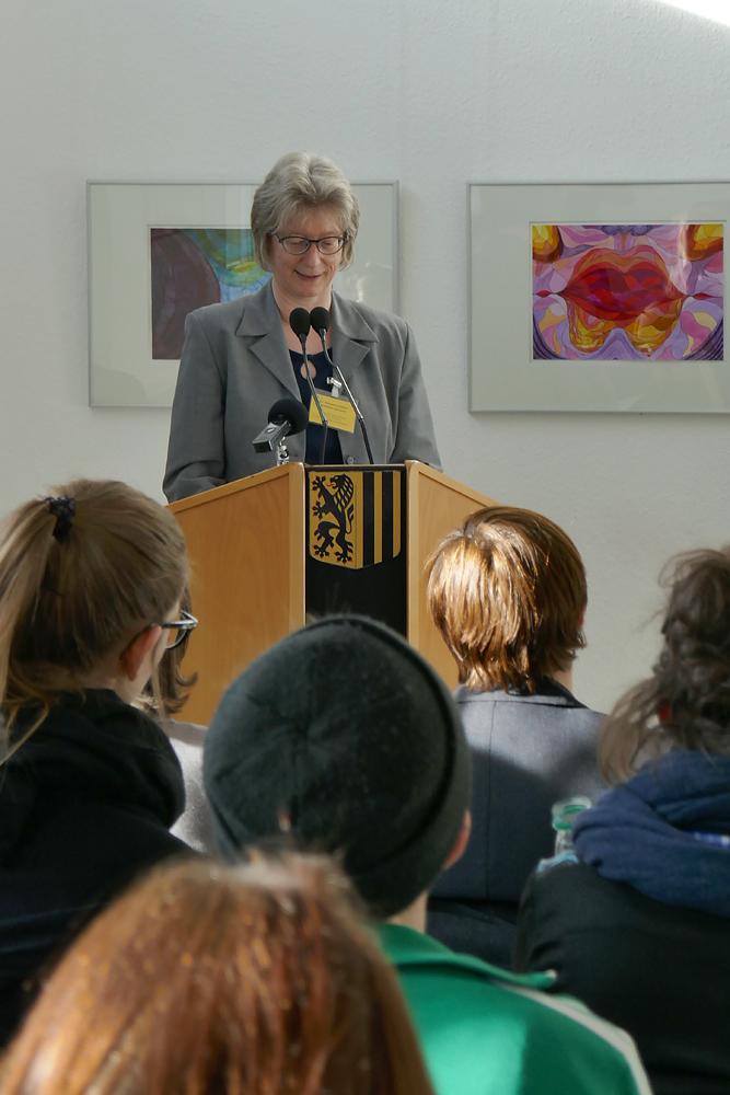 Begrüßung durch die Gleichstellungsbeauftragte der LH Dresden, Dr. Stanislaw-Kemenah