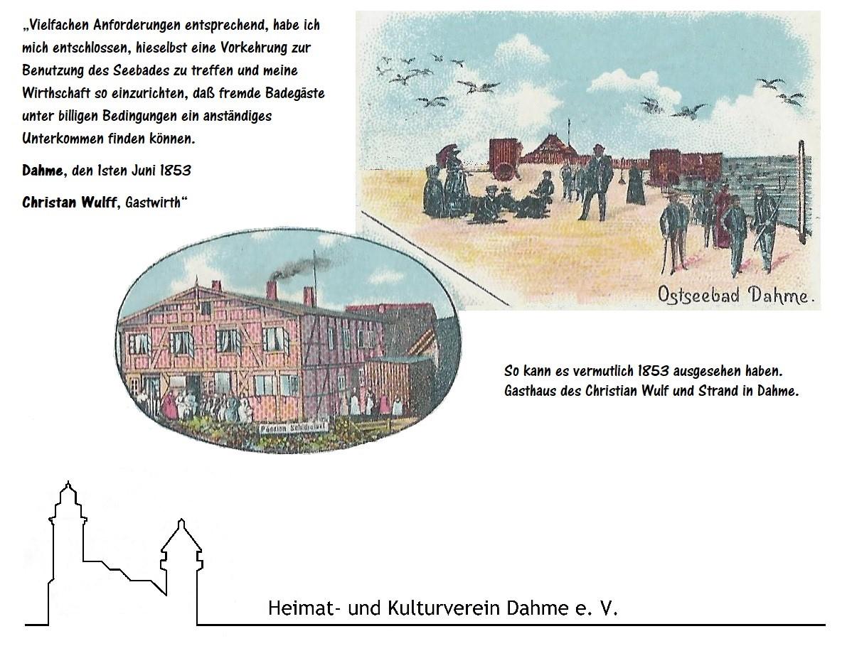 So hat es vermutlich 1853 in Dahme ausgesehen