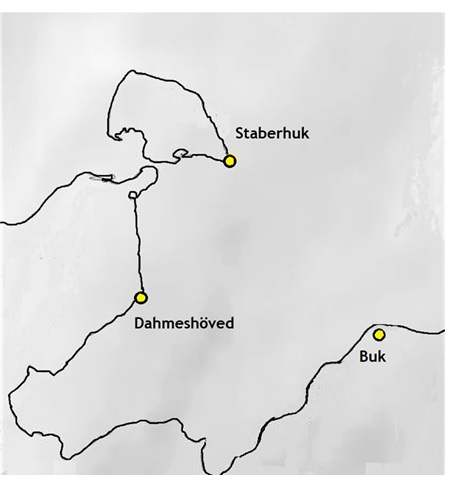 Zwischen den Leuchtfeuern Staberhuk (Fehmarn) und Buk (Mecklenburg) liegt das offene Meer, kennzeichnend für Dahme