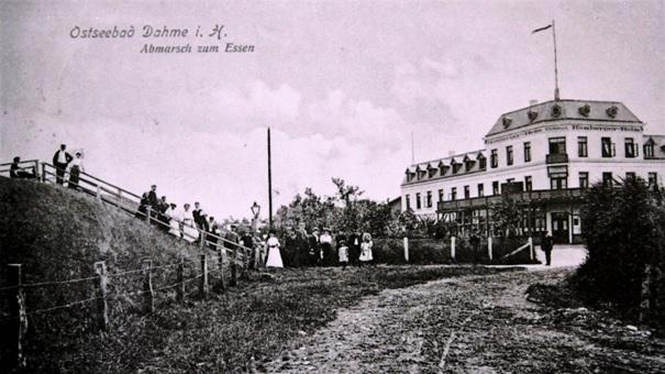 Hamburger Hof auf einer Postkarte von 1904