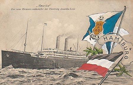 Reise mit dem Ozeanriesen Amerika nach New York 1913