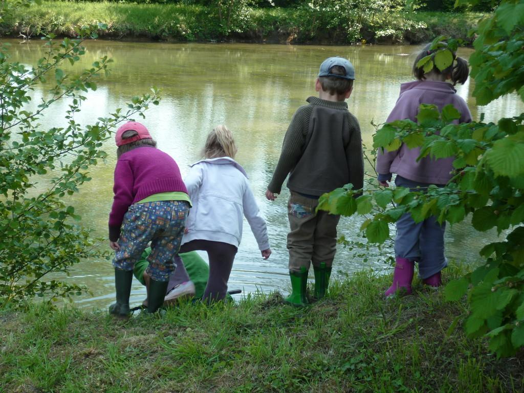 sortie nature à l'étang de la maison de retraite