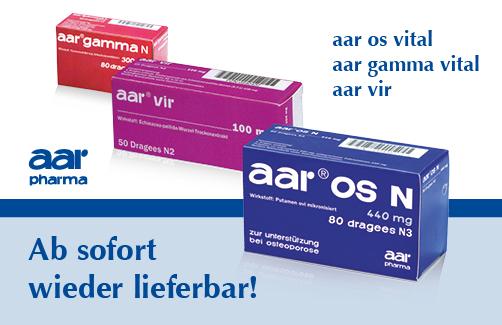 aar-Produkte ab sofort wieder lieferbar