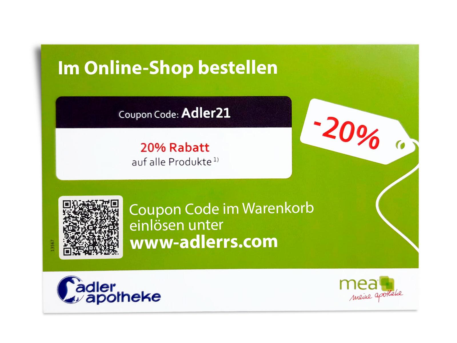 Coupon-Code einlösen im Online-Shop