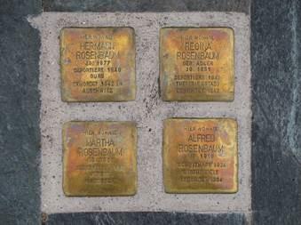 """Stolpersteine"""" für Familie Rosenbaum"""